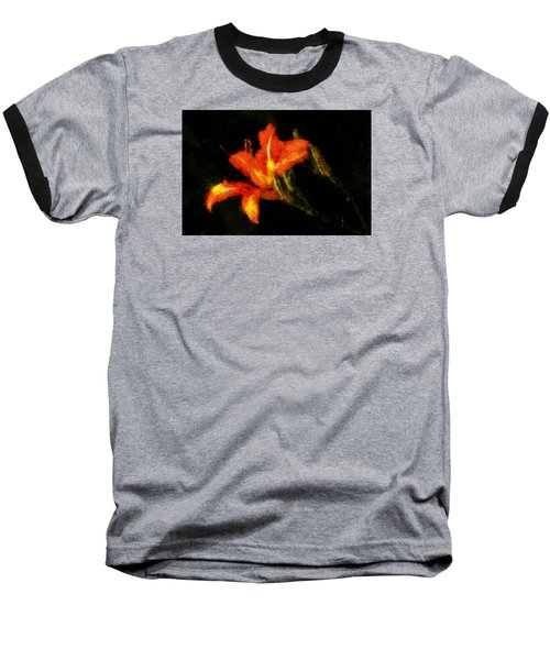 Baseball T-Shirt featuring the digital art A Painted Lily by Cameron Wood