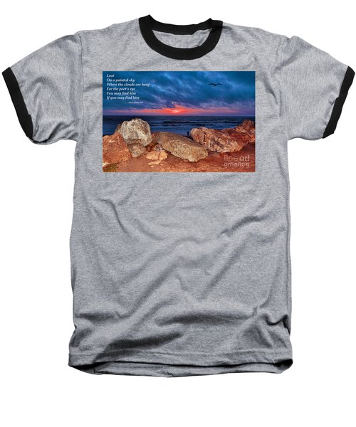 A Painted Sky For The Poet's Eye Baseball T-Shirt by Jim Fitzpatrick