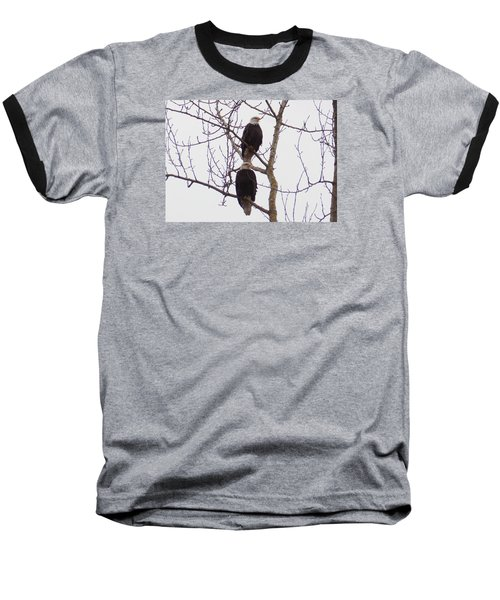 A Pair Of Eagles Baseball T-Shirt by Karen Molenaar Terrell