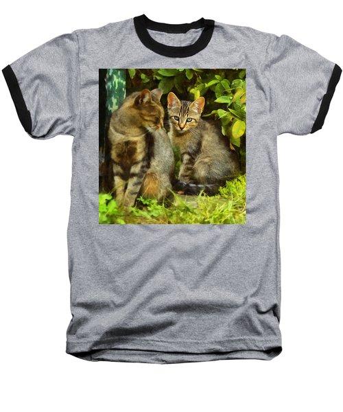 A Pair Of Feral Cats Baseball T-Shirt