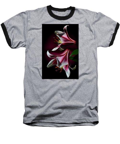 A Pair Of Lilies Baseball T-Shirt