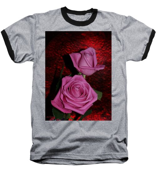 A Pair Of Pink Roses Baseball T-Shirt
