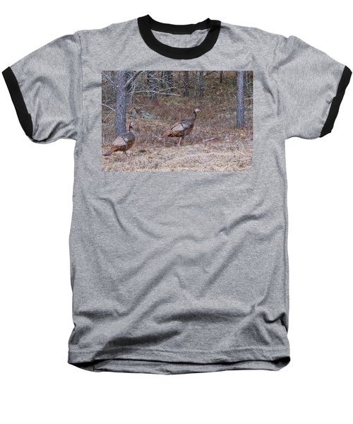 Baseball T-Shirt featuring the photograph A Pair Of Turkeys 1152 by Michael Peychich