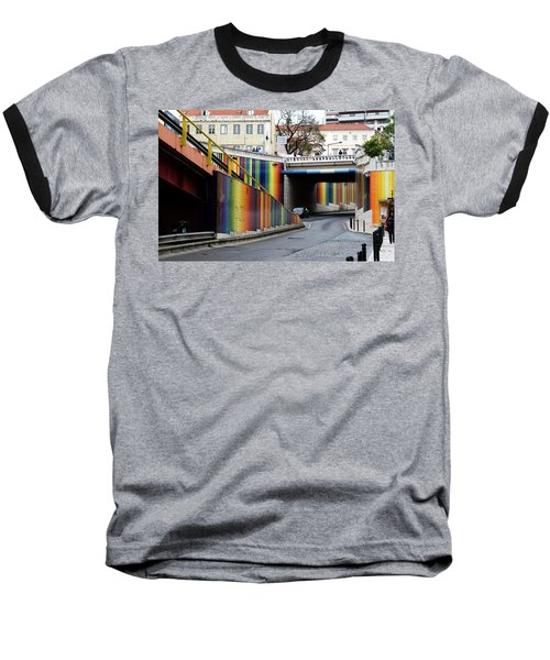 A Throughway Of Many Colors Baseball T-Shirt