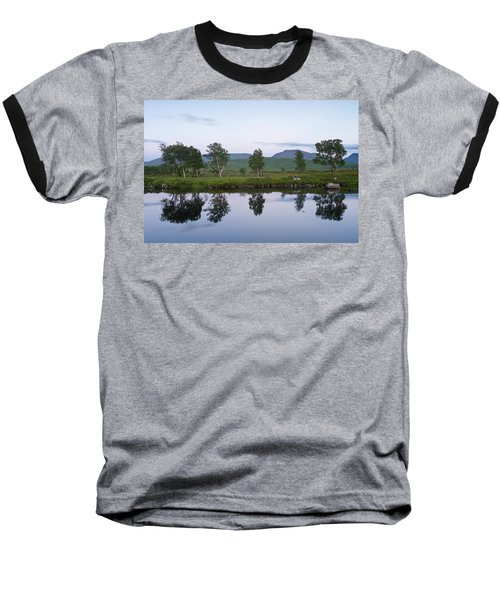 A Pastel Sky Over Loch Ba Baseball T-Shirt