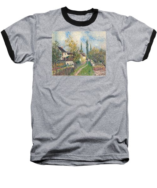 A Path At Les Sablons Baseball T-Shirt by Alfred Sisley