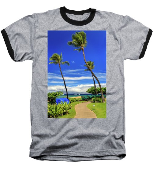 Baseball T-Shirt featuring the photograph A Path In Kaanapali by James Eddy