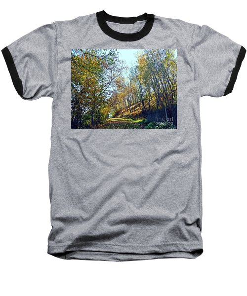 A Path In The Autumn Baseball T-Shirt