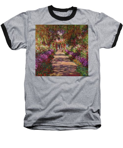 A Pathway In Monets Garden Giverny Baseball T-Shirt
