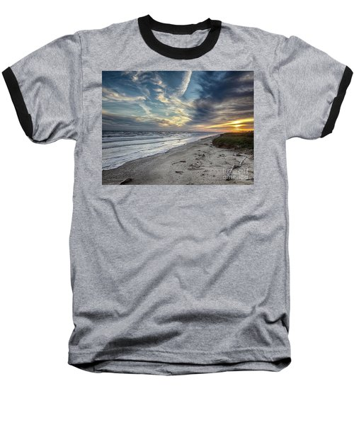 A Peaceful Beach Sunset Baseball T-Shirt