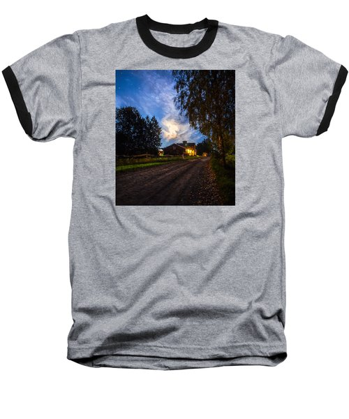 Baseball T-Shirt featuring the painting A Peaceful Evening by Rose-Maries Pictures