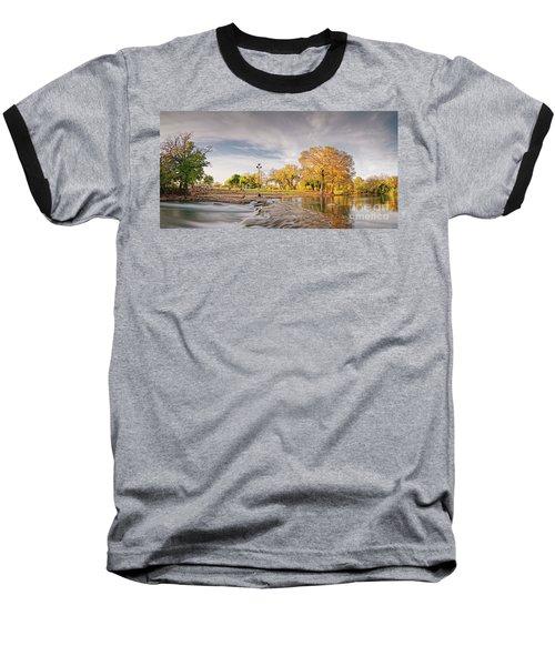 A Peaceful Fall Afternoon At Rio Vista Dam Park - San Marcos Hays County Texas Hill Country Baseball T-Shirt