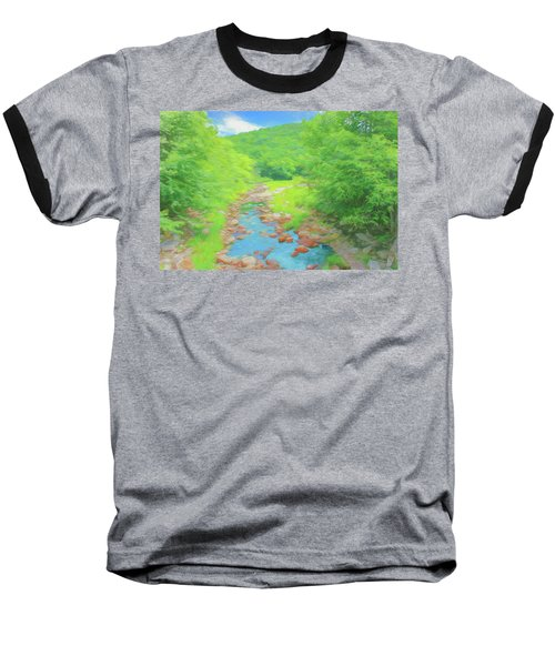A Peaceful Summer Day In Southern Vermont. Baseball T-Shirt