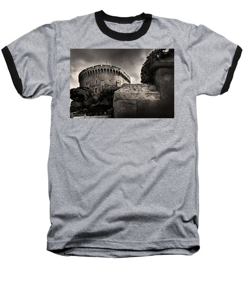 A Peak At The Tower Pictorial Baseball T-Shirt