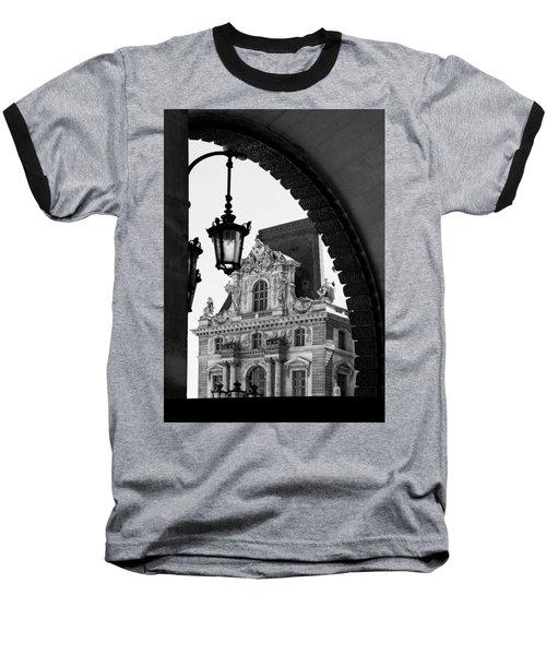 A Peak To The Louvre Baseball T-Shirt