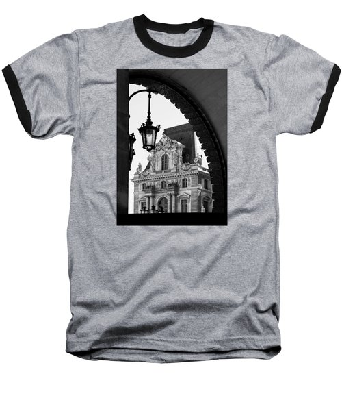 A Peak To The Louvre Baseball T-Shirt