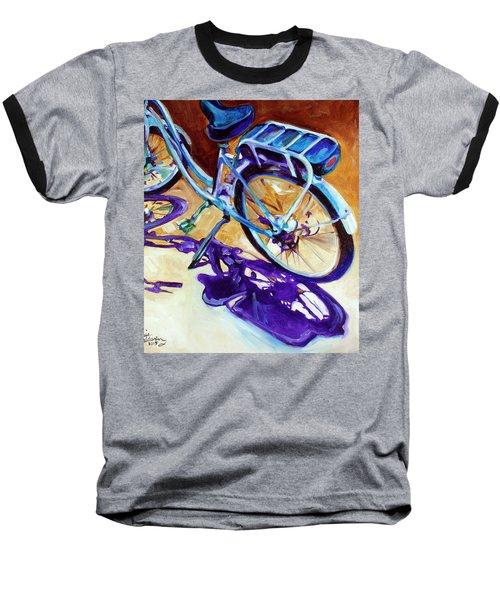 A Pedego Cruiser Bike Baseball T-Shirt by Marcia Baldwin
