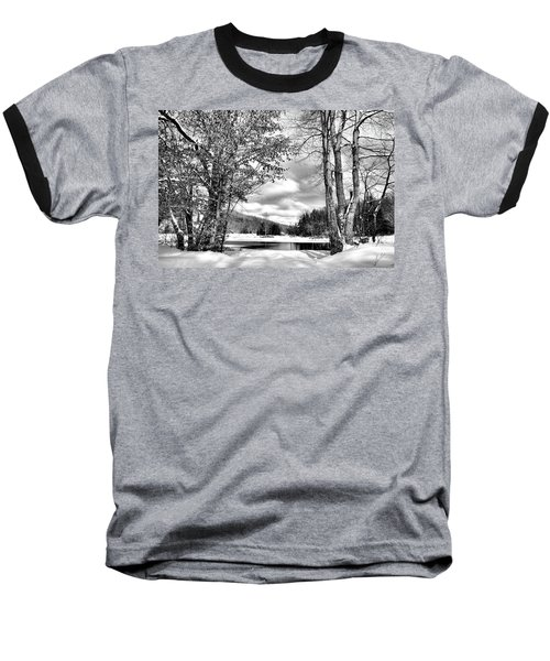 A Peek At Winter Baseball T-Shirt by David Patterson