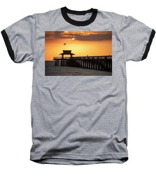 A Pelican Dive-bomb At The Naples Pier Naples Fl Baseball T-Shirt