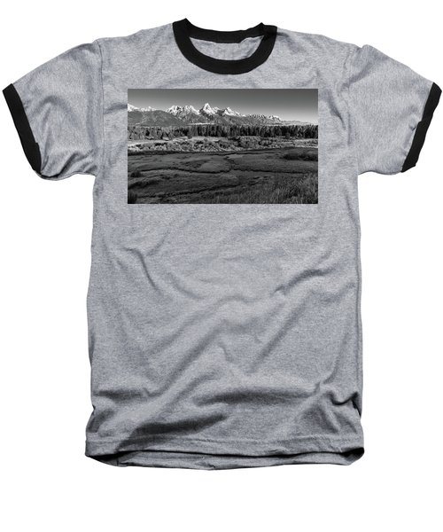 A Perfect Frosty Morning In Grey Scale Baseball T-Shirt
