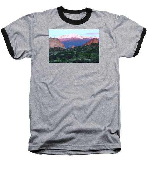 A Pikes Peak Sunrise Baseball T-Shirt