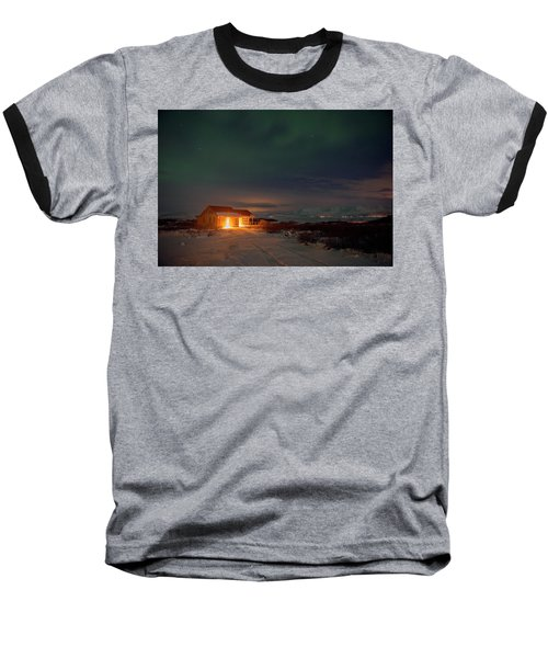 Baseball T-Shirt featuring the photograph A Place For The Night, South Of Iceland by Dubi Roman