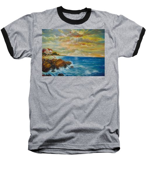 Baseball T-Shirt featuring the painting A Place In My Dreams by Emery Franklin