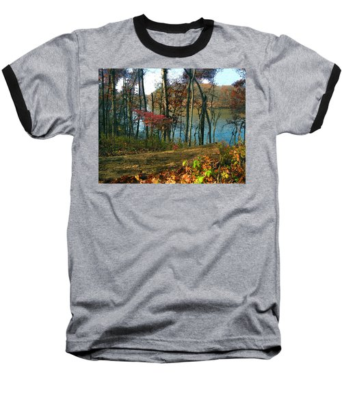 A Place To Think Baseball T-Shirt by Cedric Hampton