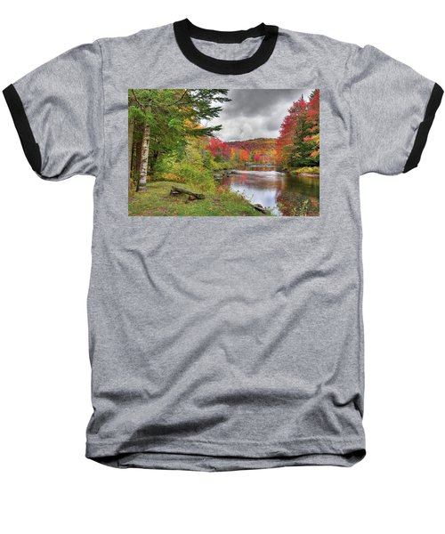 A Place To View Autumn Baseball T-Shirt by David Patterson