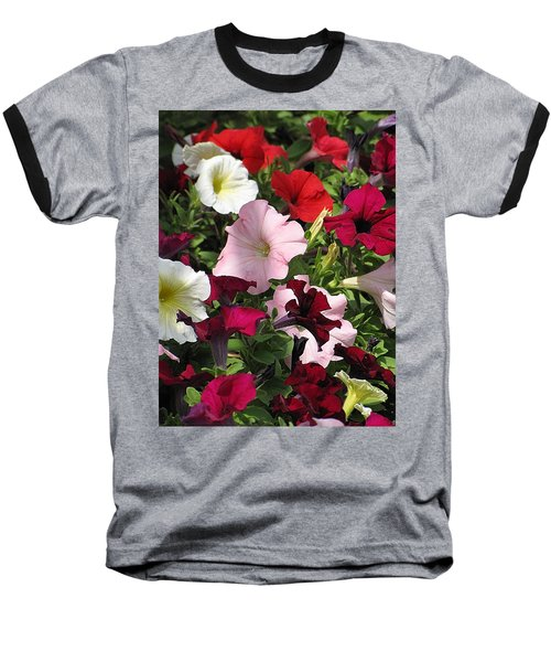 A Plethora Of Petunias Baseball T-Shirt