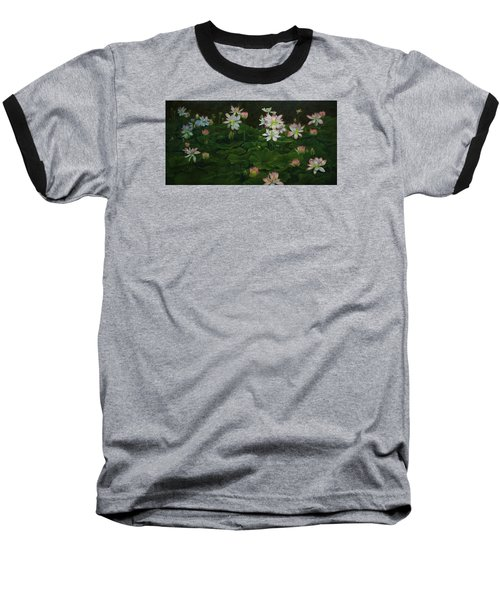 A Pond Full Of Water Lilies And Youtube Video Baseball T-Shirt by Roena King
