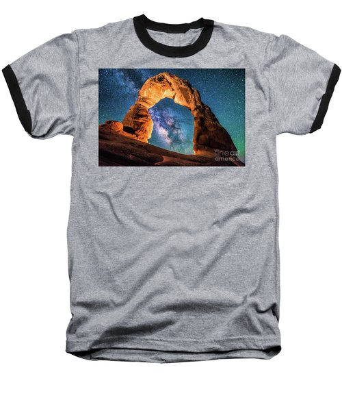 A Portal To The Milky Way At Delicate Arch Baseball T-Shirt