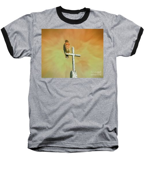 Baseball T-Shirt featuring the photograph A Powerful Perch by Myrna Bradshaw