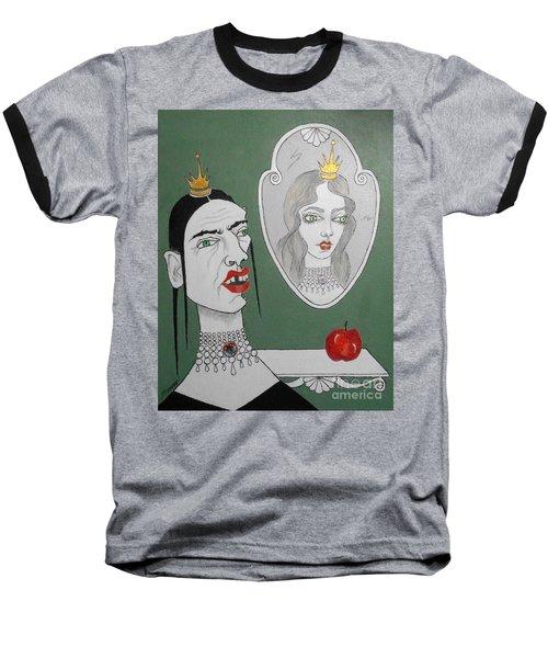 A Queen, Her Mirror And An Apple Baseball T-Shirt