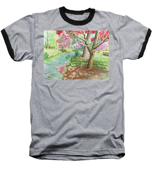 A Quiet Stroll In The Japanese Gardens Of Gibbs Gardens Baseball T-Shirt