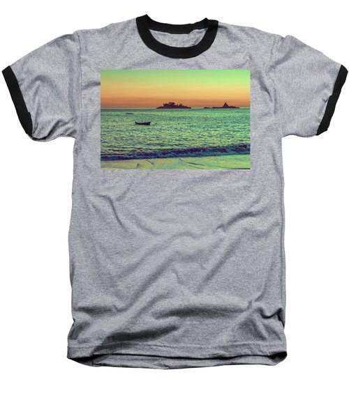 A Quiet Summer Evening On The Montenegrin Coast Of The Adriatic Sea Baseball T-Shirt