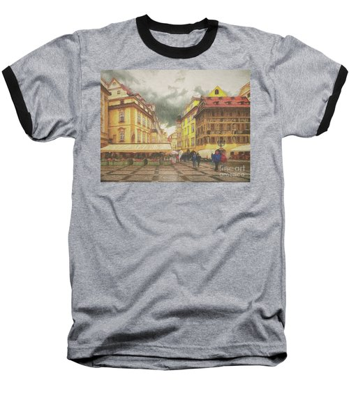 A Rainy Day In Prague Baseball T-Shirt