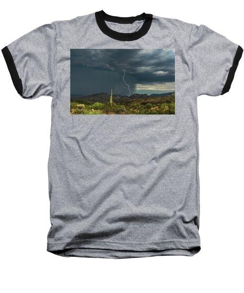 Baseball T-Shirt featuring the photograph A Rainy Sonoran Day  by Saija Lehtonen