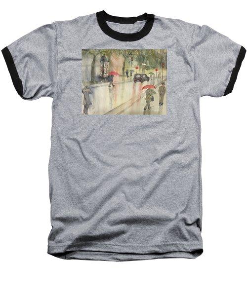 A Rainy Streetscene  Baseball T-Shirt