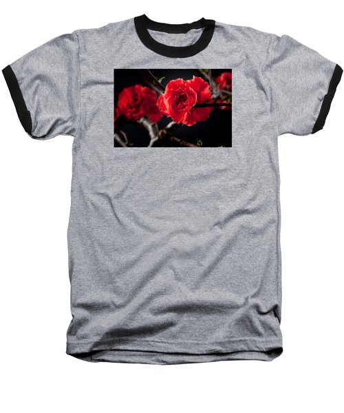 A Red Flower Baseball T-Shirt by Catherine Lau