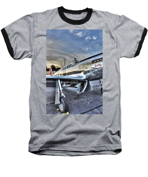 A Reflective Mustang Baseball T-Shirt by David Collins