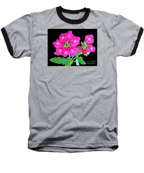 Baseball T-Shirt featuring the photograph A Ring Of Verbena by Merton Allen
