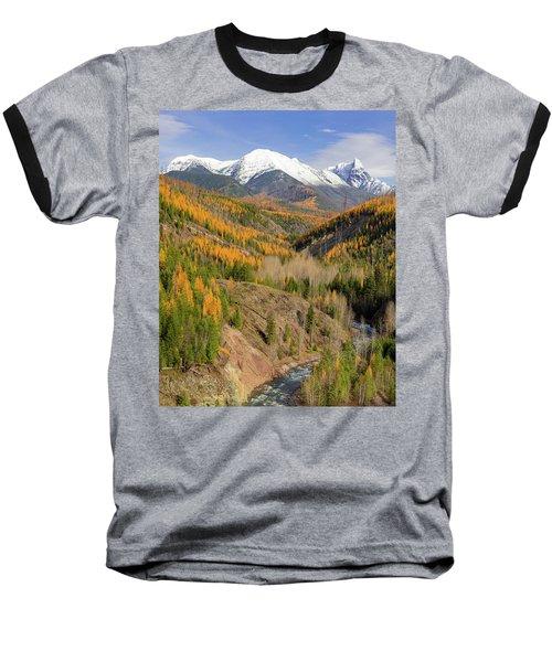 A River Runs Through It Baseball T-Shirt by Jack Bell
