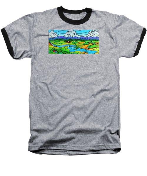 A River Runs Through It Baseball T-Shirt by Jim Harris