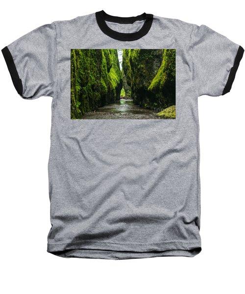 A River Runs Through It Baseball T-Shirt by Rod Jellison