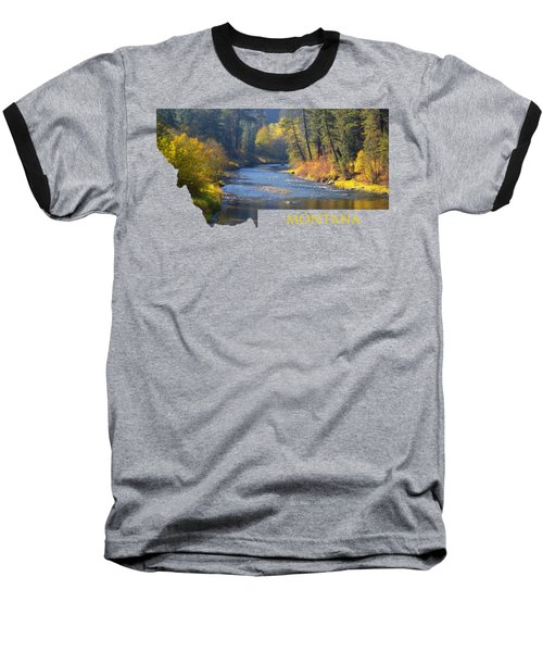 A River Runs Thru Autumn Baseball T-Shirt