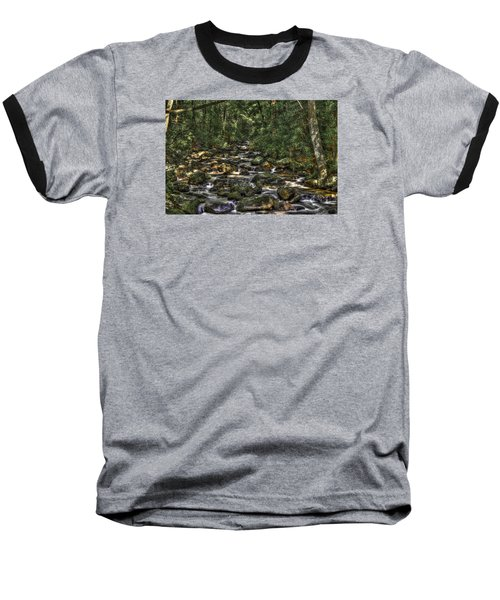 A River Through The Woods Baseball T-Shirt