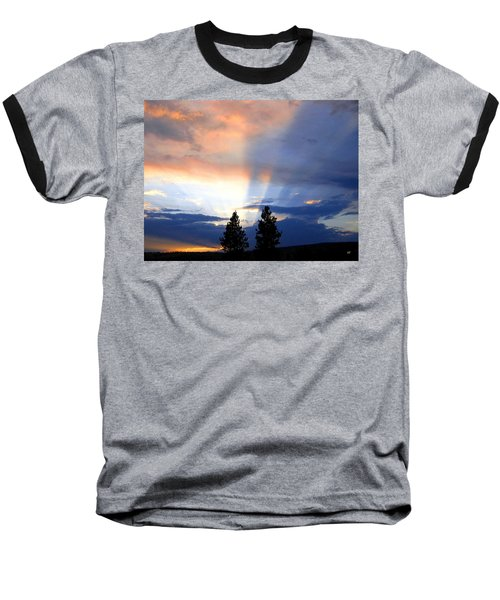 A Riveting Sky Baseball T-Shirt