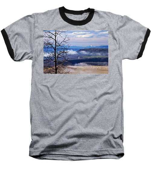A Road Half Way There Baseball T-Shirt by Sandra Foster