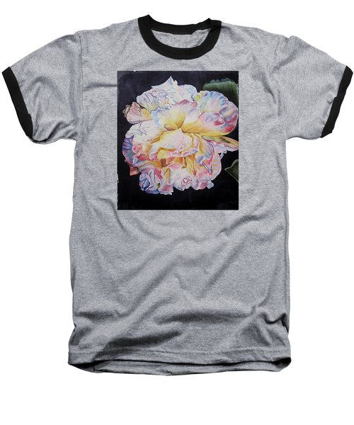 A Rose Baseball T-Shirt by Teresa Beyer